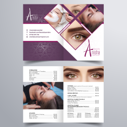 Beauty by Anisia A -Folded Price List