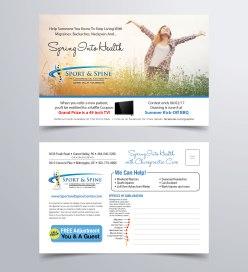Sports & Spine Spring Postcard