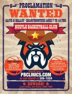 PBCLINICS Hustle Basketball Club Flyer 01b