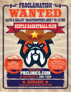 PBCLINICS Hustle Basketball Club Flyer 01b