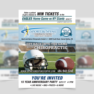 Sports & Spine - Get Back into the game with Chiropractic poster-1